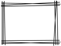 白黒の手書き風多重線のフレーム飾り枠イラスト02