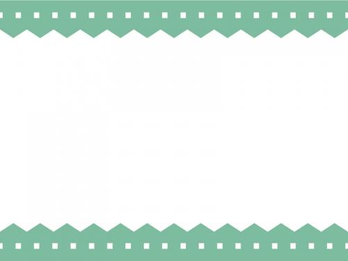 ギザギザと点線の上下シンプルフレーム飾り枠イラスト