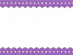 ギザギザと点線の上下シンプルフレーム飾り枠イラスト02