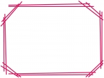 手書き風二重線のシンプルフレーム飾り枠イラスト05