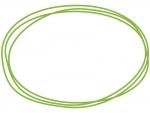 手書き風の楕円形のフレーム飾り枠イラスト