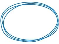 手書き風の楕円形のフレーム飾り枠イラスト02