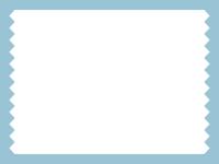 シンプルなギザギザのフレーム飾り枠イラスト02