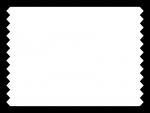 白黒のシンプルなギザギザのフレーム飾り枠イラスト