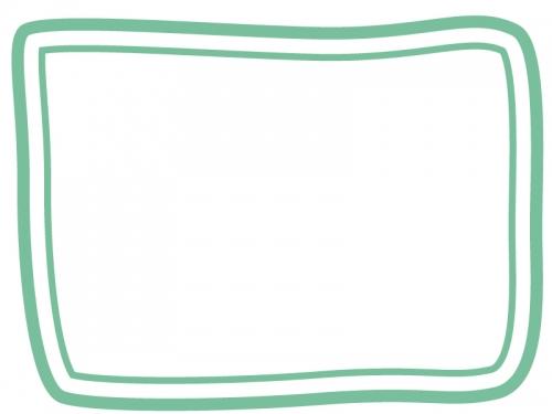 手書き風二重線のシンプルフレーム飾り枠イラスト07