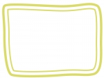 手書き風二重線のシンプルフレーム飾り枠イラスト08