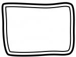 白黒の手書き風二重線のシンプルフレーム飾り枠イラスト04