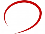 手書きの赤い丸のフレーム飾り枠イラスト02