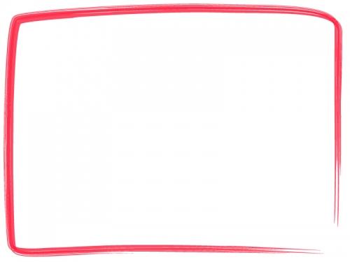 筆線のシンプルな和風フレーム飾り枠イラスト02