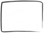筆線のシンプルな和風フレーム飾り枠イラスト04