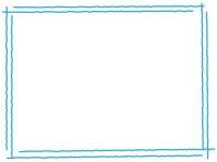 手書き風二重線のシンプルフレーム飾り枠イラスト09