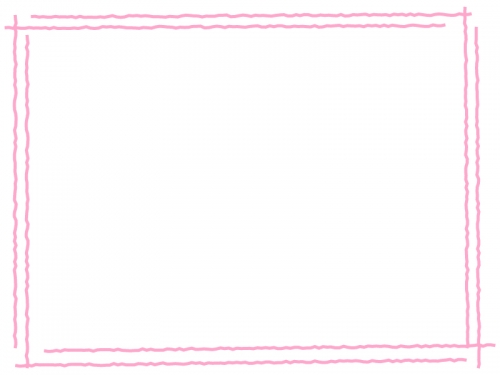 手書き風二重線のシンプルフレーム飾り枠イラスト10