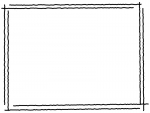 白黒の手書き風二重線のシンプルフレーム飾り枠イラスト05