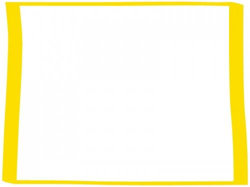手書き風のシンプルなフレーム飾り枠イラスト03