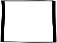 白黒の手書き風のシンプルなフレーム飾り枠イラスト02