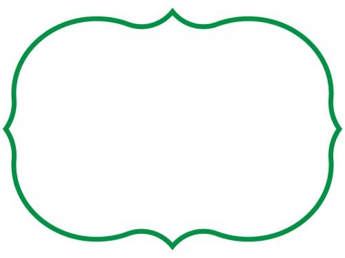 シンプルな飾り罫線のフレームイラスト