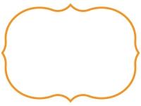 シンプルな飾り罫線のフレームイラスト02