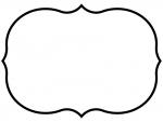 白黒のシンプルな飾り罫線のフレームイラスト