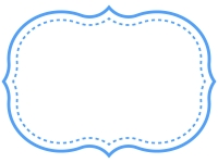 シンプル二重線の飾り罫線のフレームイラスト