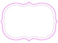 シンプル二重線の飾り罫線のフレームイラスト02