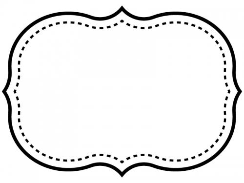 白黒のシンプル二重線の飾り罫線のフレームイラスト