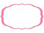 シンプルな飾り罫線のフレームイラスト03