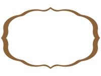 シンプルな飾り罫線のフレームイラスト04