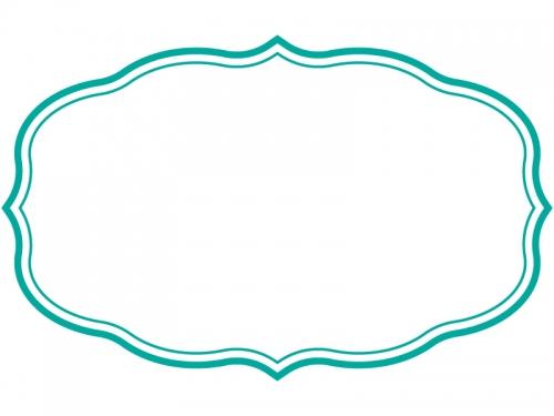 シンプル二重線の飾り罫線のフレームイラスト03