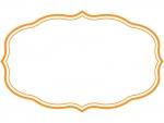 シンプル二重線の飾り罫線のフレームイラスト04
