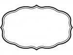 白黒のシンプル二重線の飾り罫線のフレームイラスト02