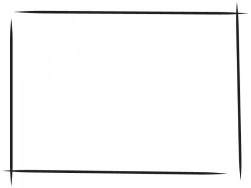 白黒の手書き風のシンプルなフレーム飾り枠イラスト03