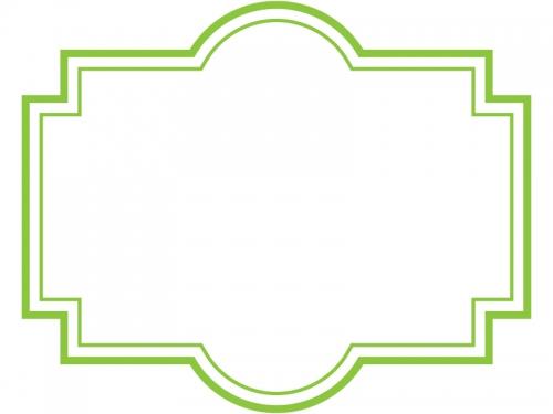 ラベル風デザイン飾り枠フレームイラスト