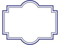 ラベル風デザイン飾り枠フレームイラスト02