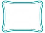 シンプルな二重線の線フレーム飾り枠イラスト03