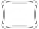 シンプルな二重線の線フレーム飾り枠イラスト04