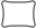 白黒のシンプルな二重線の線フレーム飾り枠イラスト02