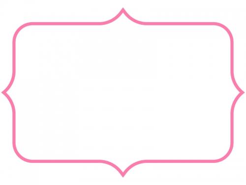 シンプルな飾り罫線のフレームイラスト05
