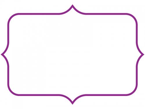 シンプルな飾り罫線のフレームイラスト06
