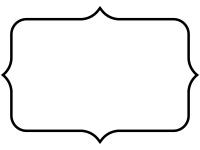白黒のシンプルな飾り罫線のフレームイラスト03