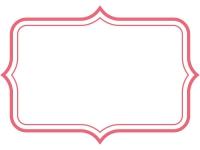 シンプル二重線の飾り罫線のフレームイラスト06