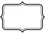 白黒のシンプル二重線の飾り罫線のフレームイラスト03