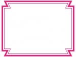 二重線の多角形フレーム飾り枠イラスト