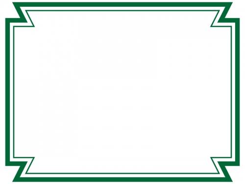 二重線の多角形フレーム飾り枠イラスト02