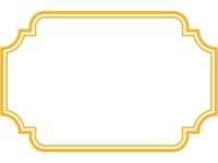 二重線の多角形フレーム飾り枠イラスト04