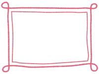 手書き風のシンプルなフレーム飾り枠イラスト07