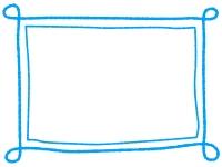 手書き風のシンプルなフレーム飾り枠イラスト08
