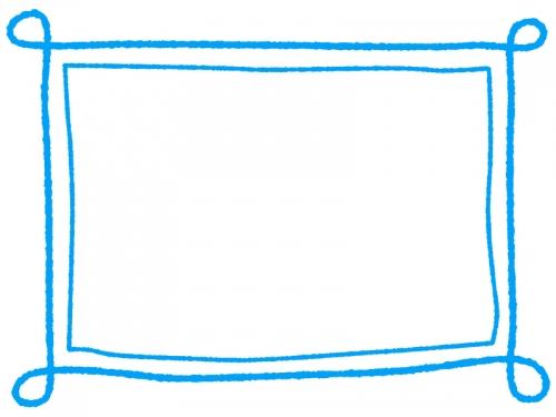 手書き風のシンプルなフレーム飾り枠イラスト08 無料イラスト かわいい