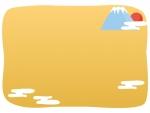 富士山と初日の出のお正月フレーム飾り枠イラスト