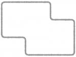 シンプルな多角形フレーム飾り枠イラスト03