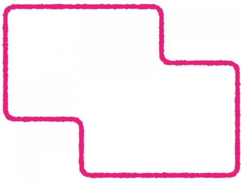 シンプルな多角形フレーム飾り枠イラスト04
